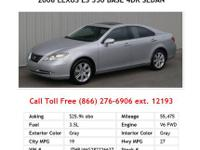 2007 Lexus ES350 Tungsten Metallic Base 4dr Sedan