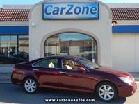 2007 LEXUS ES350 - Royal Ruby Metallic with Beige