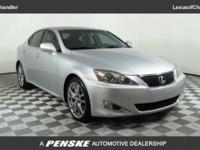 Clean CARFAX. 2007 Lexus IS 250 RWD 6-Speed Automatic