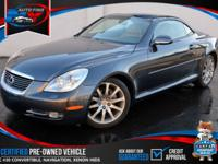 TAKE A LOOK AT THIS 2007 SMOKEY GRANITE LEXUS SC 430 V8
