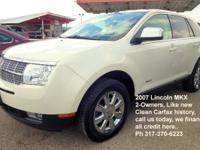 This 2007 Lincoln MKX Is one beauty of a ride and has