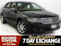 2007 LINCOLN MKZ IN BLACK, SUNROOF, LEATHER, 6