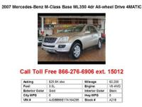 2007 Mercedes-Benz M-Class Base ML350 4dr All-wheel