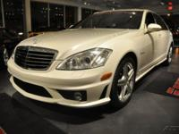 2007 Mercedes Benz S65 AMG V12 Twin Turbo.Pearl white