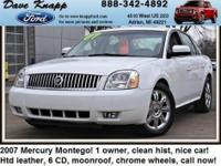 This 2007 Mercury Montego Premier has less than 74k