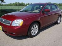 Options Included: N/A07 MAROON MERCURY MONTEGO WITH