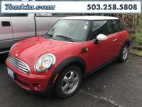 2007 MINI Cooper Red 1.6L I4 DOHC 16V  Clean CARFAX.