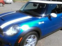 Electric Blue 2007 Mini Cooper S Turbo charged