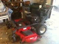 """2007 MTD PRO 60 """" HYDRO WALK BEHIND WITH A SULKY , HAS"""