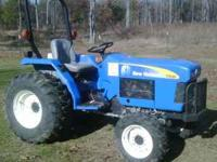 2007 New Holland 1520 4x4 35 hp tractor,9 forward and 3