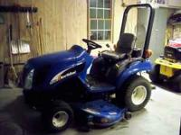 2007 New Holland TZ25 25hp diesel 4wd only 290 hrs 60