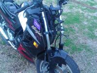 This is an auction item 07 ninja 250, front forks are