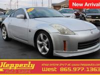 Clean CARFAX. This 2007 Nissan 350Z in Silver Alloy