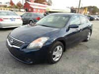 2007 NISSAN ALTIMA 2.5S BLUE ON BLACK AUTOMATIC WITH