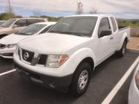 Clean CARFAX. White 2007 Nissan Frontier XE, RWD,