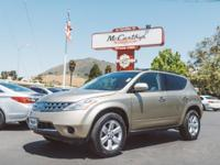 Options:  2007 Nissan Murano S|Carfax One-Owner. Clean