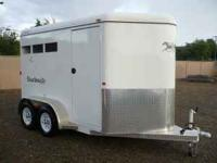 Circle J Outback Two Horse Slant Trailer Like new