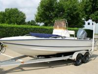 -2007 PALM BEACH 211 BAY 2008 YAMAHA 150 HP ENGINE AND