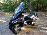 I have a 2007- Piaggio MP3 250ie. It has low mileage of