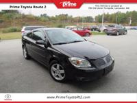 2007 Pontiac G5 in Black. 2D Coupe, ECOTEC 2.2L I4 SFI