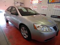 THIS USED 2007 PONTIAC G6 LIQUID SILVER METALLIC SEDAN