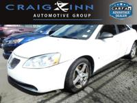 New Arrival! This 2007 Pontiac G6 G6, has a great Ivory