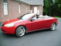FOR SALE RED G6 CONVERTIBLE WITH TAN LEATHER HEATED