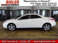 OUR 2007 FWD Pontiac G6 GT, in White with a Tan