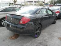 Options:  2007 Pontiac G6 Gt|Black|8 Speakers|Am/Fm