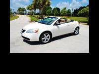 2007 Pontiac G6 GT Hardtop Convertible. White exterior,