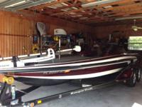 2007 Ranger Z21 Comanche Bass boat, white/red/black