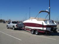 2007 Rinker 230 Atlantic Gorgeous Burgundy and White