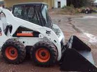 FOR SALE 07' BOBCAT S-205 SKID STEER, ENCLOSED CAB,
