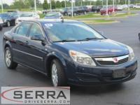 2007 SATURN AURA FWD XE WITH 3.5 L V6 VVT(29 MPG!),