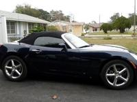 2007 Saturn Sky Roadster, 59,000 miles, midnight blue,