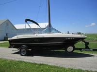 Boat is equipped with a 3.0L 135HP Mercruiser