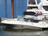 - Stock #11226 - This 220 Sundeck boasts a huge bow