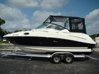 Beautiful Sea Ray 240 Sundancer Cruiser. The boat has