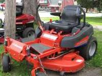 "2007 simplicity champion zero turn. 50"" cut deck. 20 hp"