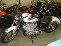 2007 H-D 883 50th Anniversary XL883L Sportster, white