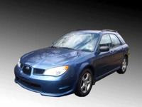 Beautiful blue 2007 Subaru Impreza Wagon, 90,403 miles,