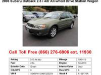 2007 Subaru Outback 2.5iBasic 4dr All-wheel Drive