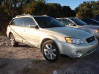 Clean CARFAX. Gold 2007 Subaru Outback 2.5i Limited AWD
