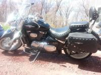 For sale is a 2007 black Suzuki Boulevard C50t. The