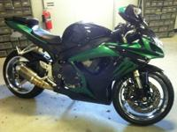 2007 Suzuki gsxr 600 with custom paint and chrome