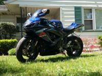 Mint condition, dark blue and black original fairings.