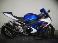 2007 GSXR1000 in Blue and White team colors  An