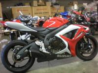 2007 Suzuki GSXR 600 in red and white with only 1168