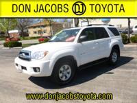 Toyota Certified, 4WD, Stone w/Cloth Seat Trim, ABS