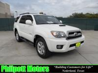 Options Included: N/A2007 Toyota 4Runenr Sport, white